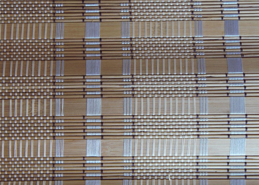 Yellow Natural Bamboo Blinds Environmental Friendly Fumigation Certification